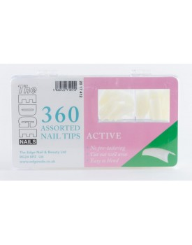 The Edge Active Nail Tips-Box of 360 Assorted Tips