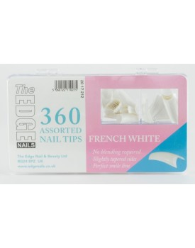 The Edge French White Nail Tips 360 Assorted Sizes 1-10