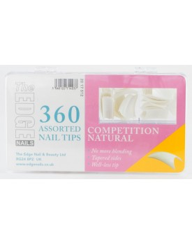 The Edge Competition Natural Tips - Box of 360 Assorted