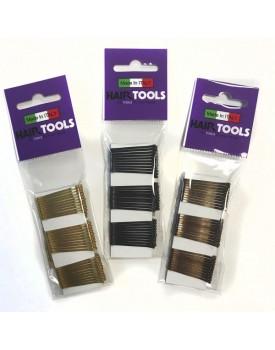 """Hair Tools 1.5"""" Waved Hair Grips - Black"""