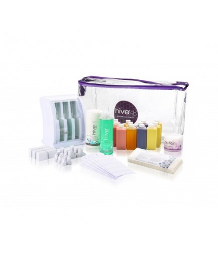 Hive Of Beauty Mini Multi-Pro Cartridge Heater (3 Chamber) Roller Waxing Kit