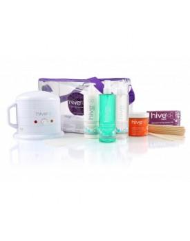 Hive Of Beauty Mini Wax Heater 0.5 Litre Warm Honey Kit