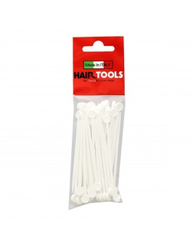 Hair Tools White Duluxe Plastic Setting Hair Roller Pins pk50