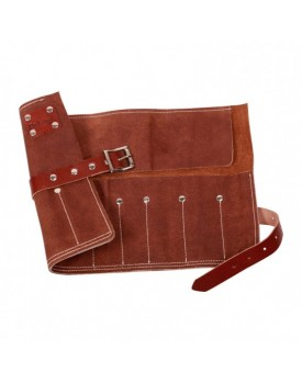 Dark Stag Leather Barbering Tool Roll