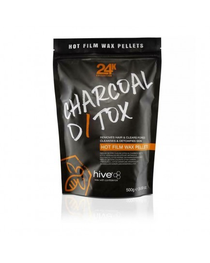 Hive Charcoal D/Tox Hot Film Wax Pellets 500g