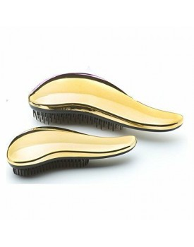 Head Jog 111 Mane Tamer Metallic Brush Set -Gold
