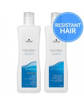 Schwarzkopf Natural Styling Classic Perm + Neutraliser-Duo Pack -0 Resistant Hair