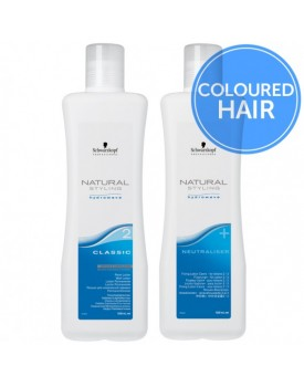 Schwarzkopf Natural Styling Classic Perm + Neutraliser-Duo Pack -2 Coloured Hair