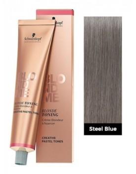 Schwarzkopf BlondMe Blonde Toning Cream 60ml Tube -Steel Blue