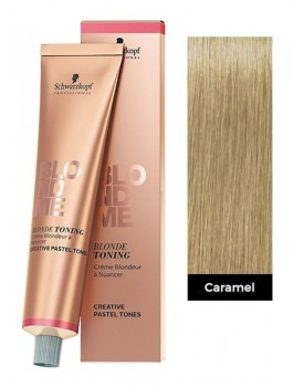 Schwarzkopf BlondMe Blonde Toning Cream 60ml Tube -Caramel