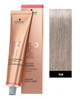 Schwarzkopf BlondMe Blonde Toning Cream 60ml Tube -Ice