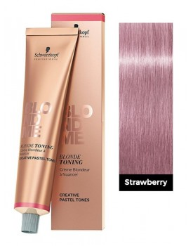 Schwarzkopf Blond Me Blonde Toning Cream 60ml Tube -Strawberry