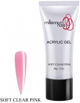Millennium Nail Acrylic Gel -Soft Clear Pink 60g