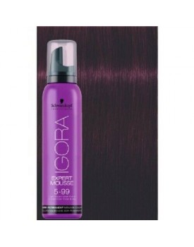 Igora Expert Semi Permanent Color Mousse -5.99 Light Brown Violet Extra