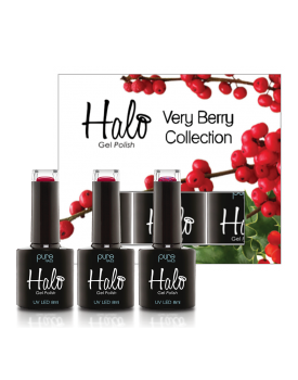 Halo Gel Polish Full Very Berry Collection -Winterberry,Cranberry & Raspberry