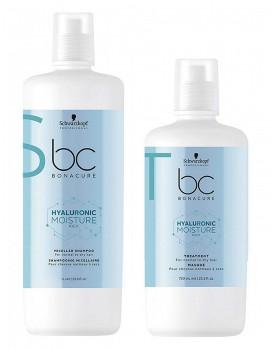 Schwarzkopf BC Moisture Kick Shampoo 1000ml & Moisture Kick Treatment Mask 750ml DUO PACK