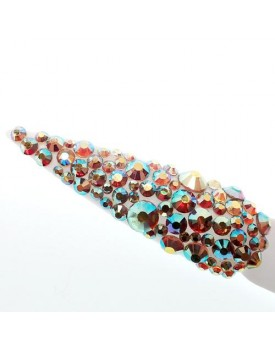 Claw Culture Cristallo Real Glass Nail Crystals-Amber Rainbow