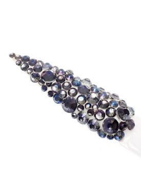 Claw Culture Cristallo Real Glass Nail Crystals-Smokey Blue