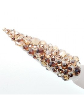 Claw Culture Cristallo Real Glass Nail Crystals-Champagne