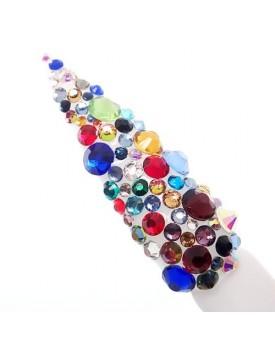 Claw Culture Cristallo Real Glass Nail Crystals-Multi Coloured