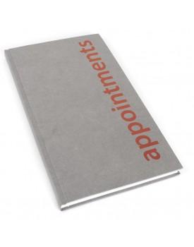 Agenda-3 Column Appointment Book-Grey