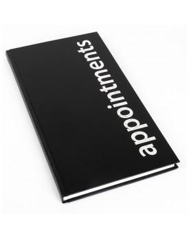 Agenda-3 Column Appointment Book-Black
