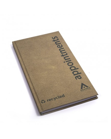 Agenda-3 Column Appointment Book-Eco Friendly-Recycled