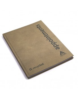 Agenda-6 Column Eco Appointment Book-Recycled