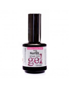 NAIL FX SOAK OFF COLOURED GEL15ML BUBBLEGUM PINK