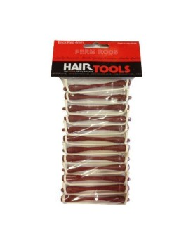 HairTools Perm Rods - Brick Red 4mm (Pack of 12)