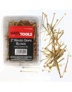 HairTools 2 Inch Waved Grips BLONDE - Box of 500
