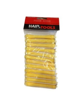 HairTools Perm Rods - Yellow 8mm ()Pack of 12