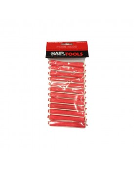 HairTools Perm Rods - Orange/Red 9mm (Pack of 12)