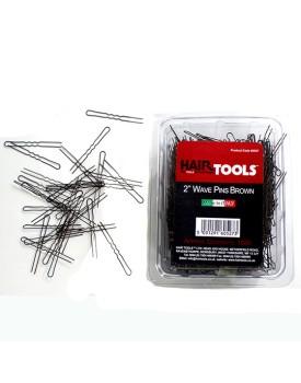"""Hair Tools 2.5"""" Wave Pins Brown 1000 pins"""