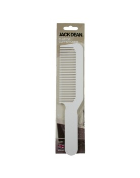 Jack Dean Flat Top Clipper Comb WHITE by Denman