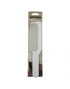 Jack Dean Flat Top Clipper Comb White