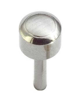 Caflon Blu x12 Regular White Stainless Steel Ball Stud Earrings