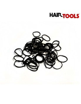 HairTools 15mm Black Rubber Bands x300