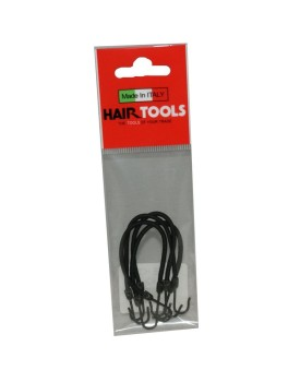 HairTools Bunjee Hooks Black pk4