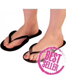 Disposable Black Flip Flops 12 pairs
