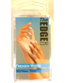 The Edge French White Nail Tips 50 Size 1