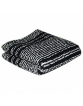 Hair Tools Black/White Humbug Towel x12