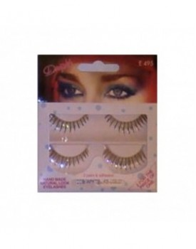 NEW! White/Black/Silver/Gold False Eye Lash Strips 2