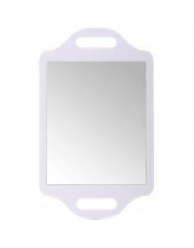 Matty Bond Street Hairdressing Beauty Salon Mirror with Twin Handle, White